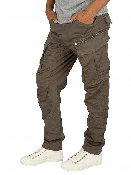 G-Star GS Grey Rovic Zip 3D Tapered Cargos
