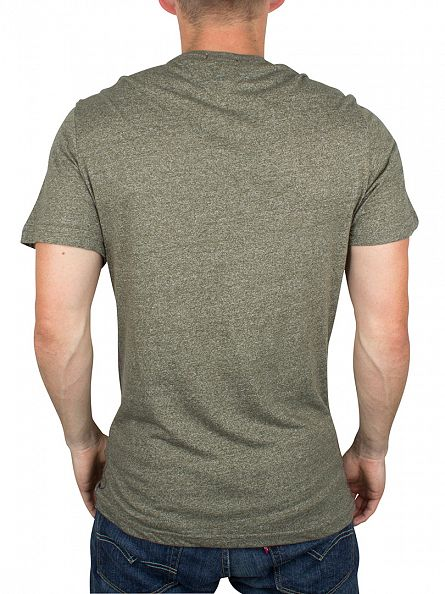 Hilfiger Denim Olive Night THDM Basic Marled Logo T-Shirt