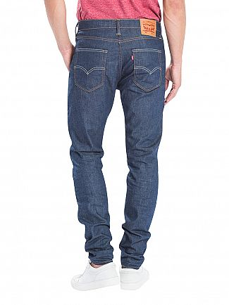 Levi's Dark Denim 512 Slim Taper Fit Broken Raw Jeans