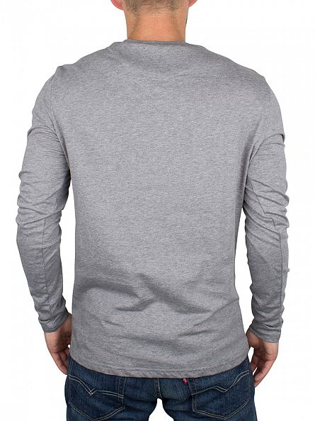 Lyle & Scott Mid Grey Marl Longsleeved Logo T-Shirt