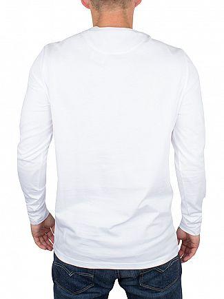 Lyle & Scott White Longsleeved Logo T-Shirt