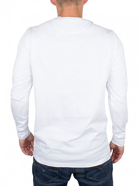 Lyle & Scott White Longsleeved Logo T-Shirt