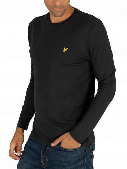 Lyle & Scott True Black Longsleeved Logo T-Shirt