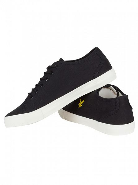 Lyle & Scott True Black Teviot Twill Logo Trainers