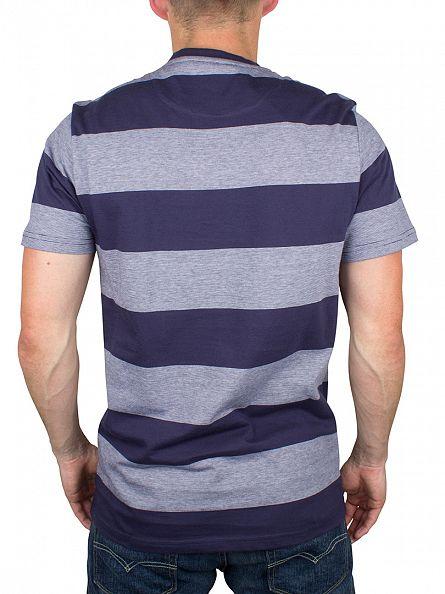 Lyle & Scott Navy Wide Stripe Logo T-Shirt