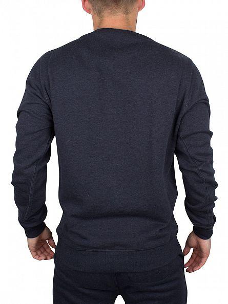 Original Penguin Dark Sapphire Melange Marl Loopback Logo Sweatshirt