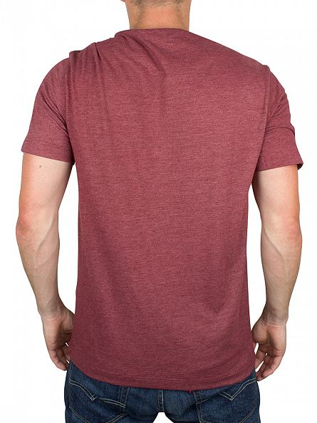 Original Penguin Pomegranate Heather Peached Jersey Marled Logo T-Shirt
