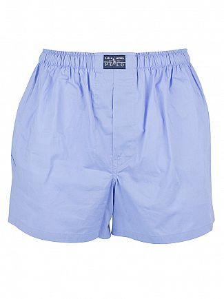 Polo Ralph Lauren White/Blue/Navy 3 Pack Woven Logo Trunks