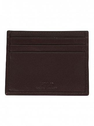 Polo Ralph Lauren Mahogany Card Case Logo Wallet