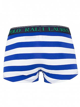 Polo Ralph Lauren Pacific Royal/White Stripe Classic Pouch Stretch Logo Trunks