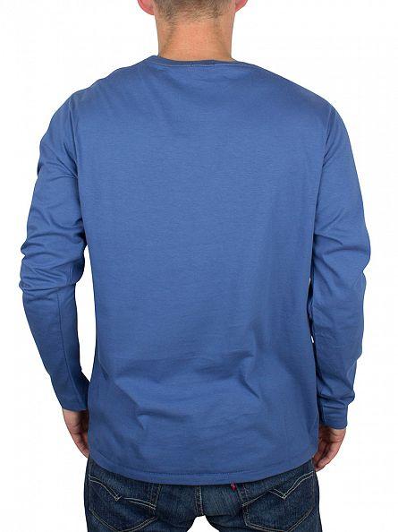 Tommy Hilfiger True Navy Longsleeved Organic Logo T-Shirt