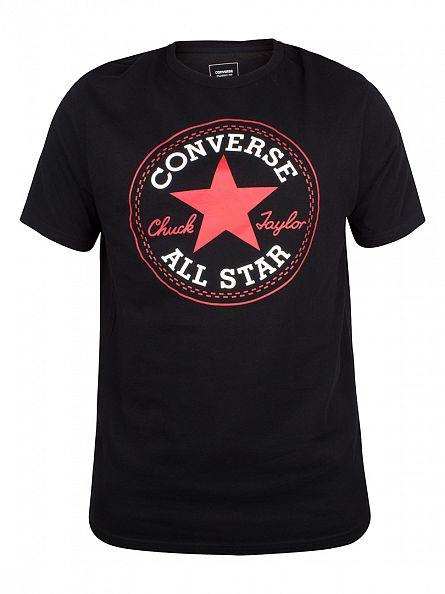 Converse Black Core Chuck Taylor Patch T-Shirt