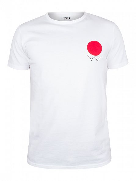 Edwin White Red Dot Logo T-Shirt