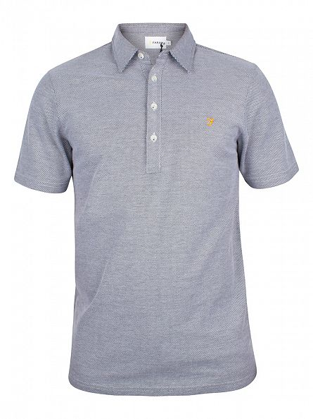 Farah Vintage White Sinclair Logo Polo Shirt