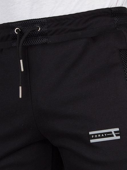 Foray Black Mineral Mesh Panel Joggers
