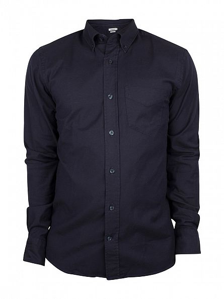 J Lindeberg Dark Navy Slim Fit Daniel BD Stretch Oxford Shirt