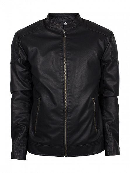 Jack & Jones Black Rush Bomber Jacket