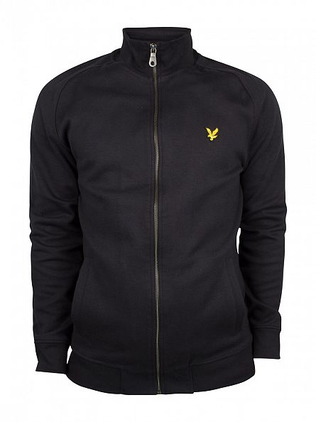 Lyle & Scott True Black Funnel Neck Zip Jacket