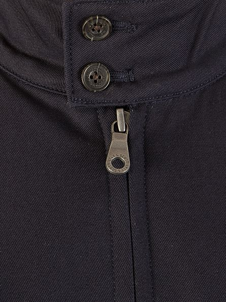 Lyle & Scott Navy Harrington Logo Zip Jacket