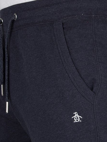 Original Penguin Dark Sapphire Melange Marl Loopback Logo Joggers