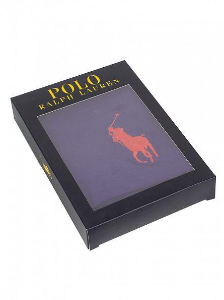Polo Ralph Lauren Squire Purple Classic Pouch Stretch Cotton Logo Trunks