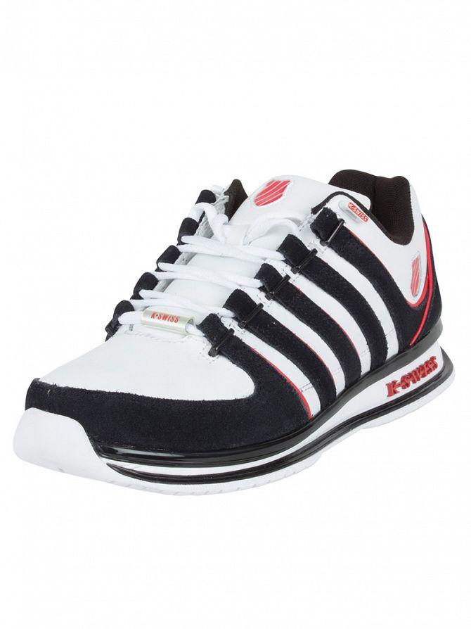 K-Swiss White/Black/Fiery Red Rinzler SP Trainers