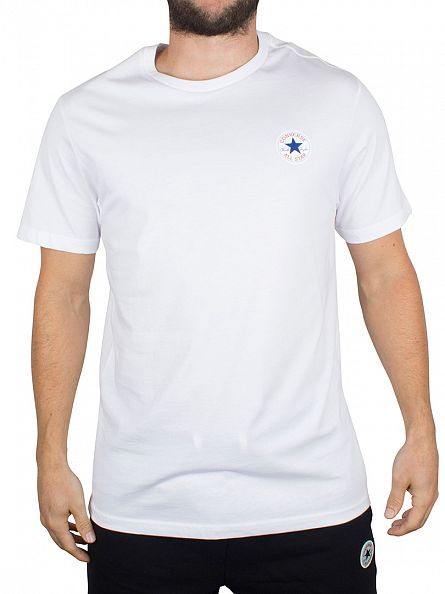 Converse White Core Left Chest Logo T-Shirt