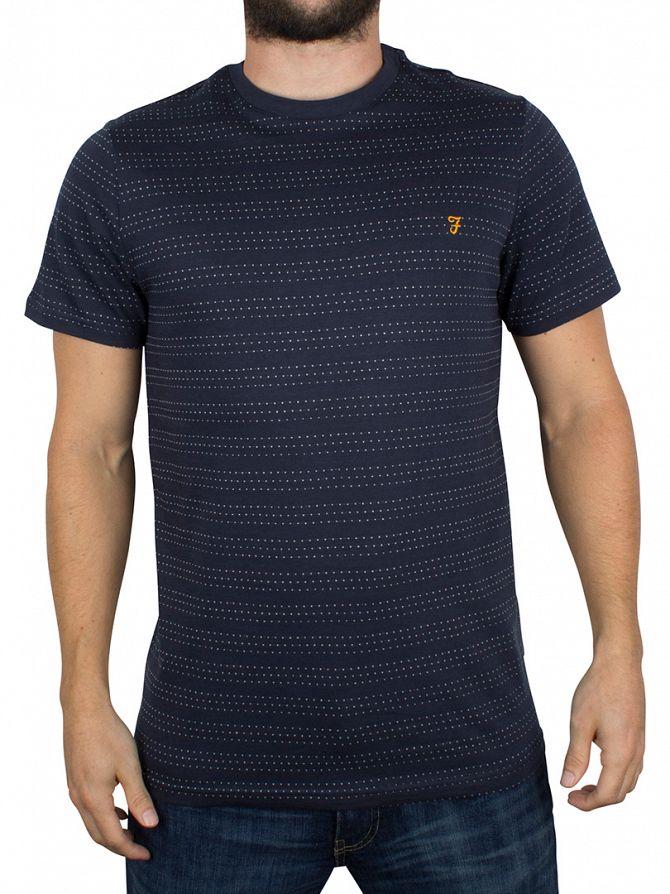 Farah Vintage True Navy Aidan Dotted Logo T-Shirt