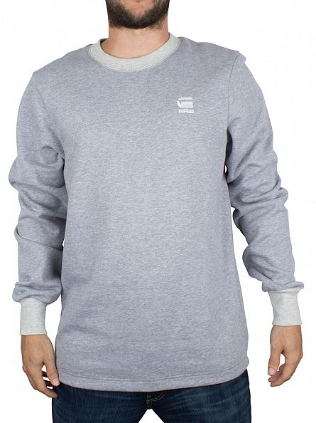 G-Star Grey Heather Core Zip Logo Sweatshirt