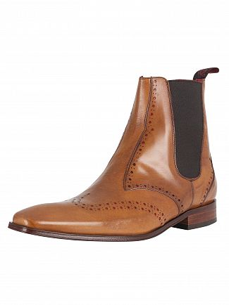 Jeffery West Lavato Tan/Charcoal Red Scarface Boots
