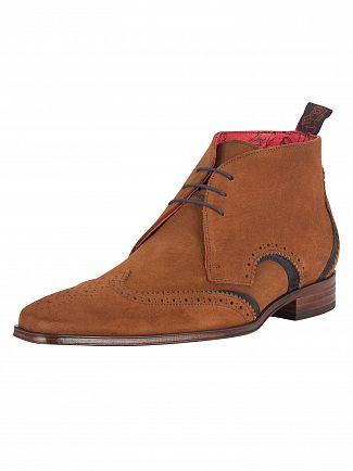 Jeffery West Ante Vacuno Tan/Ante Vacuno Dark Blue Scarface Shoes
