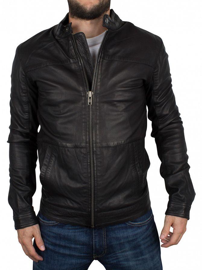 Minimum Black Faulkner Leather Jacket