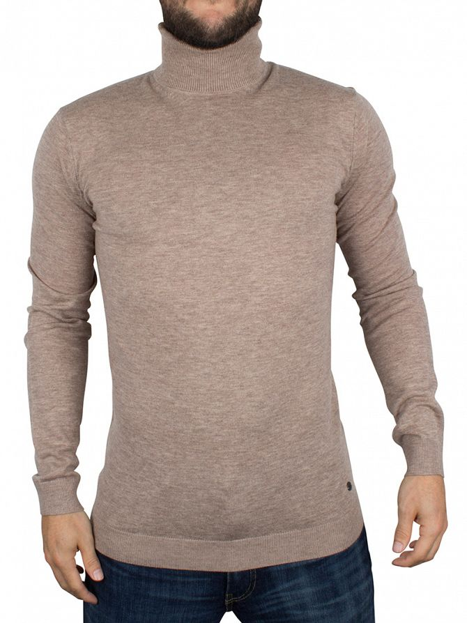 Minimum Warm Sand Melange Thad Turtleneck Knit