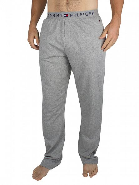 Tommy Hilfiger Grey Heather Logo Waistband Pyjama Bottoms
