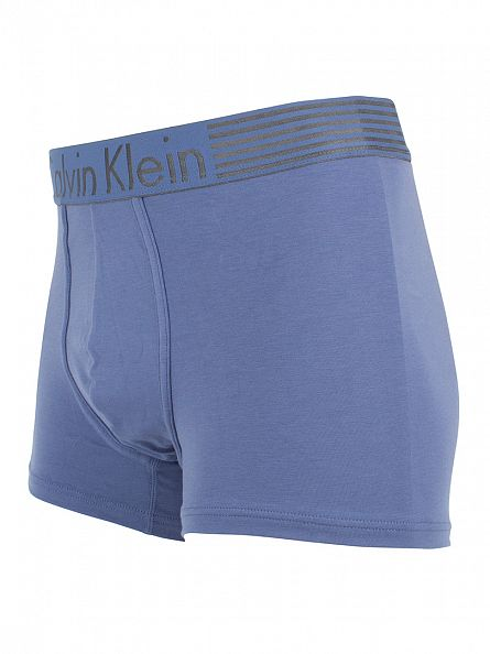 Calvin Klein Casper Blue Iron Strength Logo Waistband Trunks