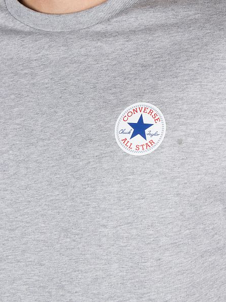 Converse Vintage Grey Heather Core Left Chest Logo T-Shirt