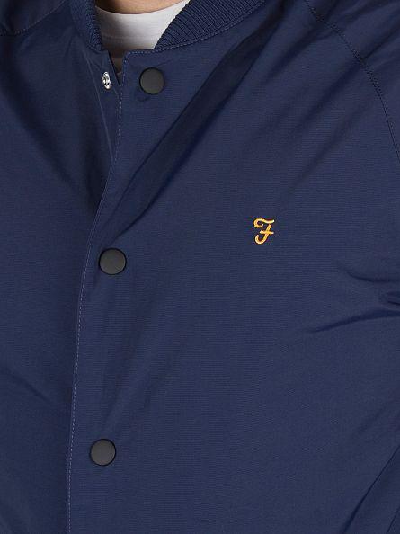 Farah Vintage Yale Blue Bellinger SNPCF Logo Jacket