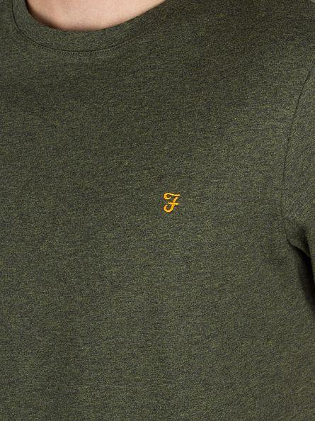 Farah Vintage Evergreen Denny Marled Logo T-Shirt