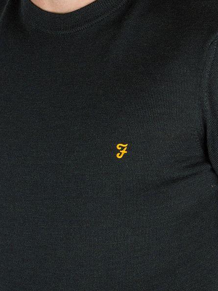 Farah Vintage Ripe Avocado Mullen Wool Logo Knit