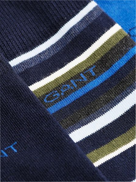 Gant Nautical Blue 3 Pack Holiday Socks Gift Box