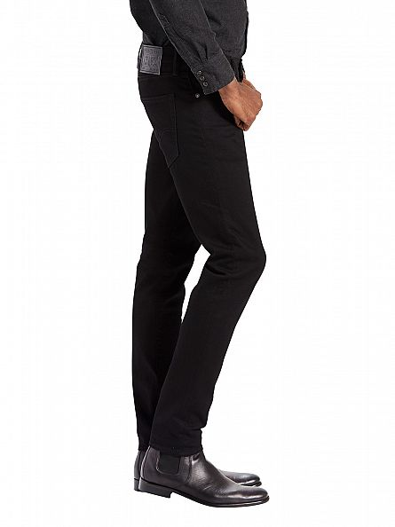 Levi's Black 512 Slim Tapered Fit Nightshine Jeans