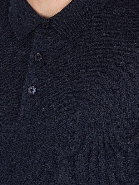 Minimum Dark Navy Longsleeved Jaylen Polo Shirt Knit