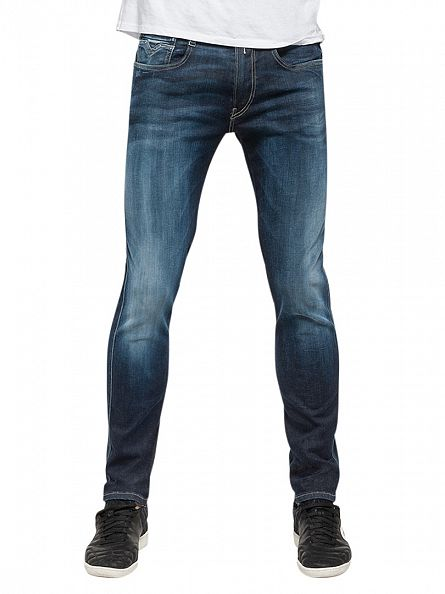 Replay Blue Hyperflex Anbass Slim Fit Jeans