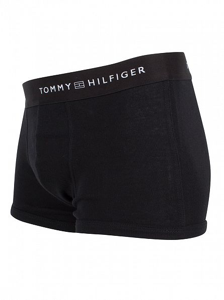 Tommy Hilfiger Black 2 Pack Natural Cotton Trunks