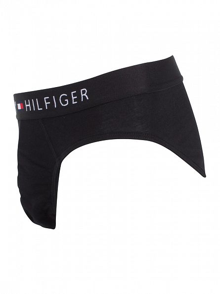 Tommy Hilfiger Black Icon Cotton Stretch Logo Briefs