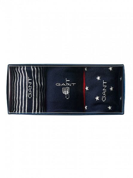Gant Marine 3 Pack Holiday Socks Gift Box