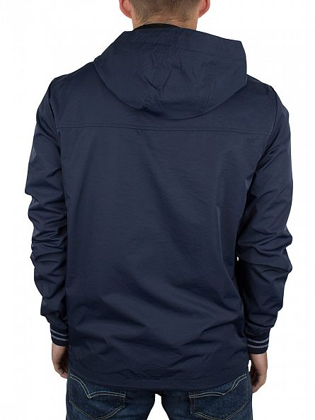 Original Penguin Dark Sapphire Full Zip Logo Hooded Ratner Jacket