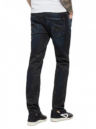 Replay Dark Denim Hyperflex Anbass Slim Fit Jeans