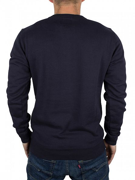 Replay Navy Logo Stamp Sweatshirt