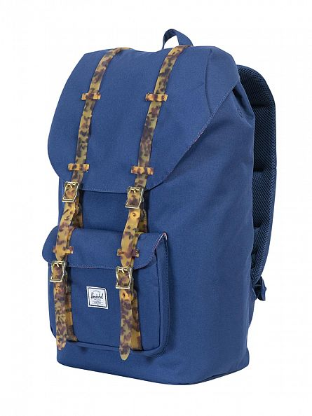Herschel Supply Co Twilight/Tortoise Shell Little America Straps Logo Backpack